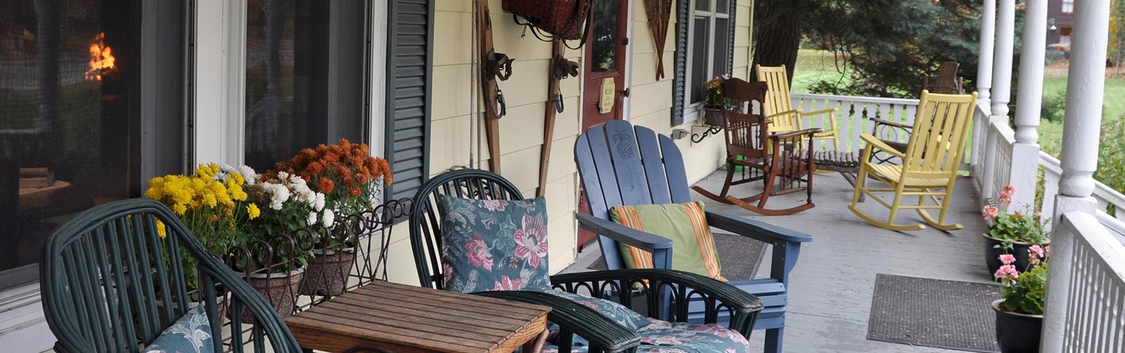 Seating on the front porch