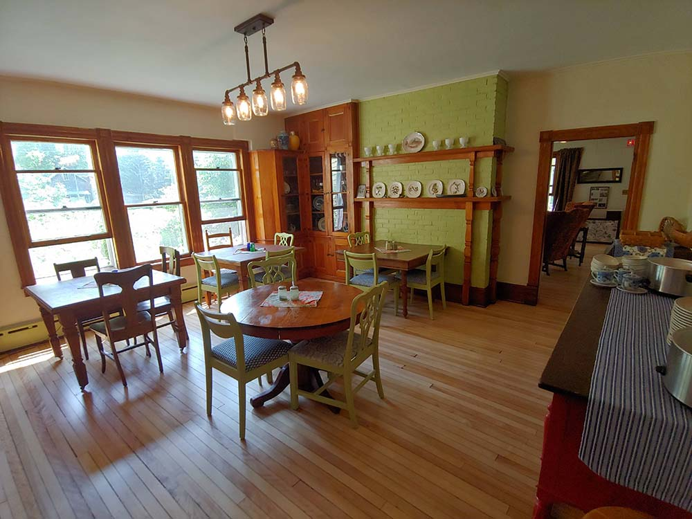 dining area with small tables